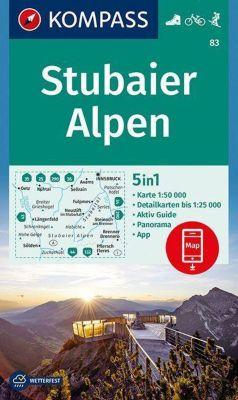 KOMPASS Wanderkarte Stubaier Alpen