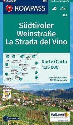 KOMPASS Wanderkarte Südtiroler Weinstraße, La Strada del Vino; La Strada del Vino -  pdf epub