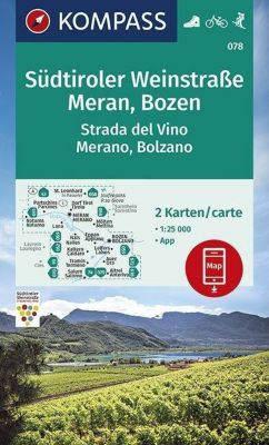 KOMPASS Wanderkarte Südtiroler Weinstraße, Meran, Bozen / Strada del Vino, Merano, Bolzano -  pdf epub