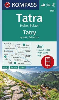 KOMPASS Wanderkarte Tatra Hohe, Belaer, Tatry, Vysoké, Belianske