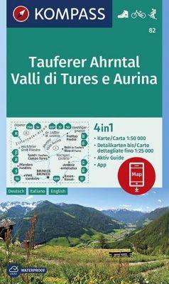 KOMPASS Wanderkarte Tauferer Ahrntal, Valle di Tures e Aurina