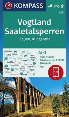 KOMPASS Wanderkarte Vogtland, Saaletalsperren, Plauen, Klingenthal