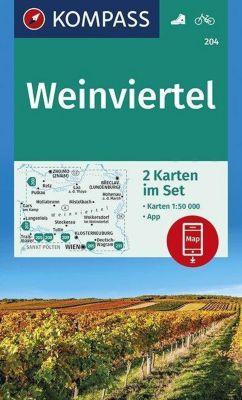 KOMPASS Wanderkarte Weinviertel
