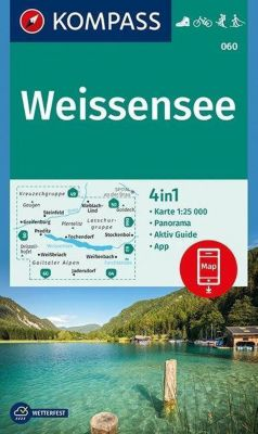 KOMPASS Wanderkarte Weißensee