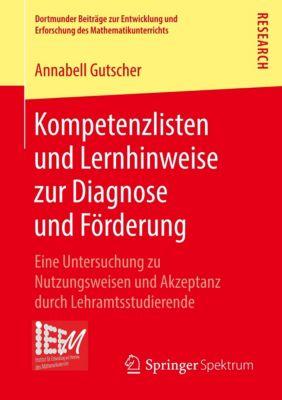 Kompetenzlisten und Lernhinweise zur Diagnose und Förderung, Annabell Gutscher