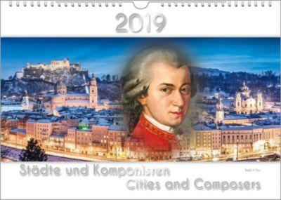 Komponisten-Kalender 2019, Städte und Komponisten. DIN-A-3, Peter Bach Jr.