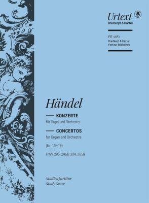 Konzerte für Orgel und Orchester Nr. 13-16 (HWV 295, 296a, 304, 305a) (Urtext) - Georg Friedrich Händel  