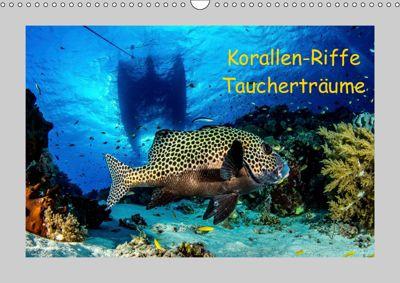 Korallen-Riffe Taucherträume (Wandkalender 2019 DIN A3 quer), Sascha Caballero