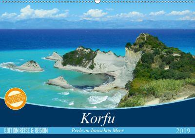Korfu, Perle im Ionischen Meer (Wandkalender 2019 DIN A2 quer), Carmen Vogel
