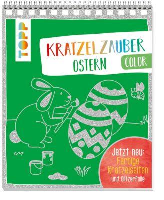 Kratzelzauber Color Ostern, m. Holzstift, frechverlag