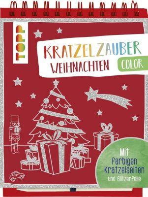 Kratzelzauber Color Weihnachten, m. Holzstift, frechverlag