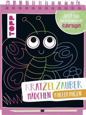 Kratzelzauber Kulleraugen für Mädchen, m. Holzstift, frechverlag