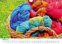 Kreative Handarbeiten 2019. Impressionen von Mensch und Material (Wandkalender 2019 DIN A4 quer) - Produktdetailbild 3