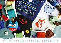 Kreative Handarbeiten 2019. Impressionen von Mensch und Material (Wandkalender 2019 DIN A4 quer) - Produktdetailbild 9