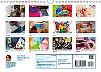 Kreative Handarbeiten 2019. Impressionen von Mensch und Material (Wandkalender 2019 DIN A4 quer) - Produktdetailbild 13