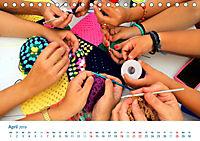 Kreative Handarbeiten 2019. Impressionen von Mensch und Material (Tischkalender 2019 DIN A5 quer) - Produktdetailbild 4