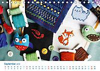 Kreative Handarbeiten 2019. Impressionen von Mensch und Material (Tischkalender 2019 DIN A5 quer) - Produktdetailbild 9