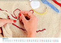 Kreative Handarbeiten 2019. Impressionen von Mensch und Material (Wandkalender 2019 DIN A3 quer) - Produktdetailbild 4