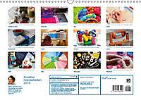 Kreative Handarbeiten 2019. Impressionen von Mensch und Material (Wandkalender 2019 DIN A3 quer) - Produktdetailbild 13
