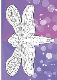 Kreativset: Malbuch Natur + 12 Farbstifte bicolor (24 Farben) - Produktdetailbild 4