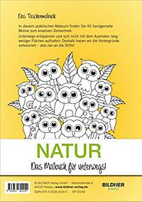 Kreativset: Malbuch Natur + 12 Farbstifte bicolor (24 Farben) - Produktdetailbild 3