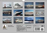 Kreuzfahrt Warnemünde (Wandkalender 2019 DIN A4 quer) - Produktdetailbild 2