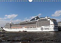 Kreuzfahrtschiffe in Hamburg (Wandkalender 2019 DIN A4 quer) - Produktdetailbild 10