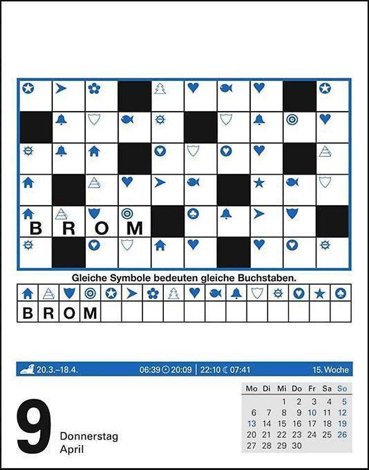 Kissenhülle Kreuzworträtsel.Kreuzwortratsel 2020 Kalender Gunstig Bei Weltbild De Bestellen