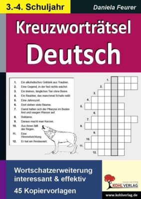 Kreuzworträtsel Deutsch 3.-4. Schuljahr, Daniela Feurer