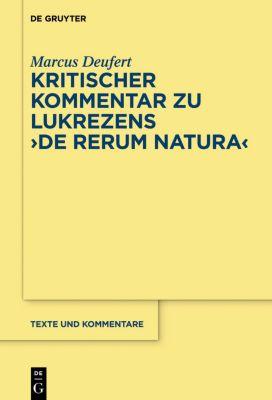 Kritischer Kommentar zu Lukrezens 'De rerum natura', Marcus Deufert