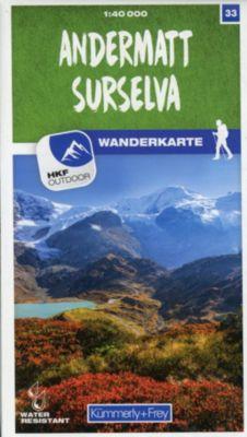 Kümmerly+Frey Karte Andermatt - Surselva Wanderkarte -  pdf epub