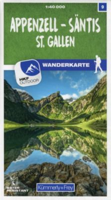 Kümmerly+Frey Karte Appenzell - Säntis / St. Gallen Wanderkarte -  pdf epub