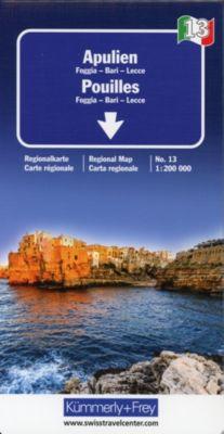 Kümmerly+Frey Karte Apulien Regionalkarte