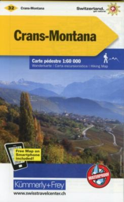 Kümmerly+Frey Karte Crans-Montana Wanderkarte