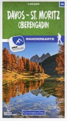 Kümmerly+Frey Karte Davos - St. Moritz / Oberengadin Wanderkarte