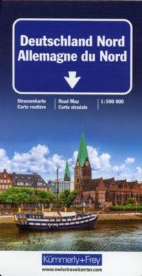 Kümmerly+Frey Karte Deutschland Nord / Allemagne du Nord / Germany North / Germania del Nord Strassenkarte -  pdf epub