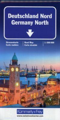 Kümmerly+Frey Karte Deutschland Nord Strassenkarte