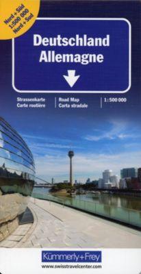 Kümmerly+Frey Karte Deutschland Nord + Süd Strassenkarte, Doppelkarte -  pdf epub