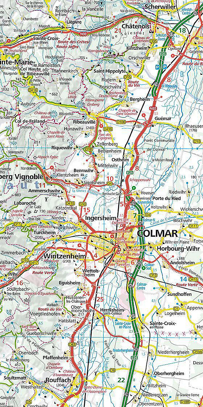Elsass Auf Karte.Kummerly Frey Karte Elsass Vogesen Alsace Vosges Buch Portofrei
