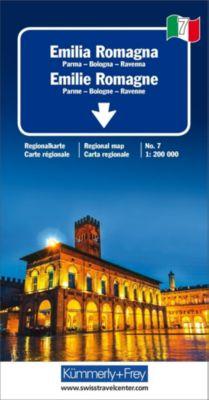 Kümmerly+Frey Karte Emilia-Romagna / Emilie-Romagne Regionalkarte -  pdf epub