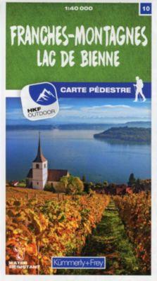 Kümmerly+Frey Karte Franches-Montagnes / Lac de Bienne Wanderkarte -  pdf epub