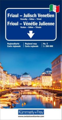 Kümmerly+Frey Karte Friaul - Julisch Venetien / Frioul - Vénétie Julienne Regionalkarte -  pdf epub