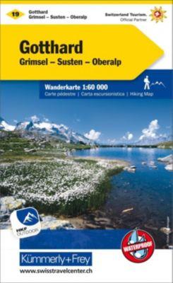 Kümmerly+Frey Karte Gotthard Wanderkarte; San Gottardo