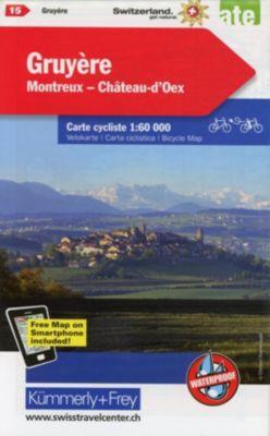 Kümmerly+Frey Karte Gruyère - Montreux - Château-d'Oex Velokarte -  pdf epub