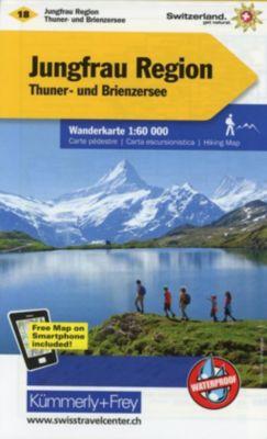 Kümmerly+Frey Karte Jungfrau-Region Wanderkarte