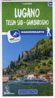 Kümmerly+Frey Karte Lugano - Tessin Süd - Gambarogno Wanderkarte -  pdf epub