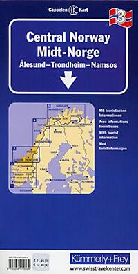Kümmerly & Frey Karte Mittel-Norwegen; Norvege Centrale / Central Norway / Midt-Norge - Produktdetailbild 1