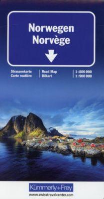 Kümmerly & Frey Karte Norwegen; Norvège; Norway; Norge