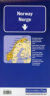 Kümmerly & Frey Karte Norwegen; Norvège; Norway; Norge - Produktdetailbild 1