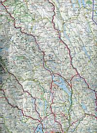 Kümmerly & Frey Karte Norwegen; Norvège; Norway; Norge - Produktdetailbild 2